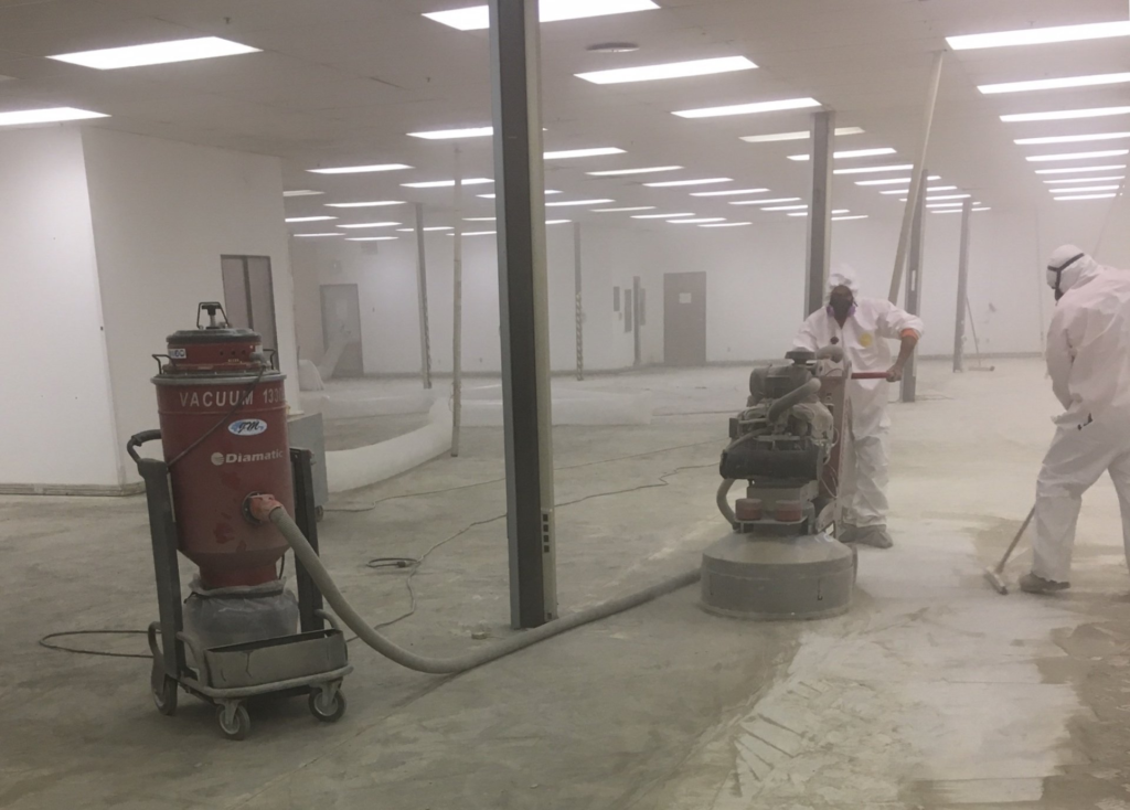 Asbestos+Containing+Floor+Mastic+Removal+inside+Containment+Commercial+Site